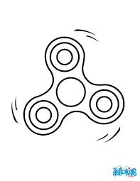 Fidget Spinner Coloring Sheets Battak