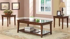 accent and occasional furniture mitra coffee table and two end tables walnut