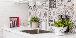 kitchen black and white cement tiles 2