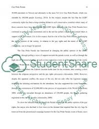 the gay pride parade essay example topics and well written   text preview