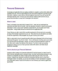 Resumes Personal Statements Personal Statement For A Job In Nursing