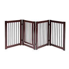 wooden pet gate with door configurable dog indoor freestanding walk through wood baby gates uk