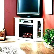 rustic electric fireplace stand corner inch black with tv pine