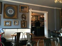 decor inside Moore Coffee Shop