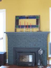 painting a brick fireplace dark grey best 2018
