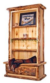 We carry this Mountain Woods Rustic Aspen Log Book Case - 3 Shelf, 1  Drawer, and other fine American-made rustic furniture and dcor.