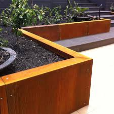 amazing corten retaining wall steel cladding architectural designer cost construction diy detail design thickness australium garden