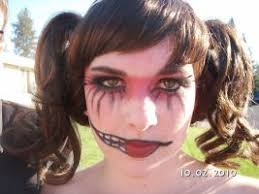 gothic rag doll makeup by rooki3cooki3