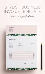Invoice Sheets This Stylish Business Invoice Template For Excel And Google Sheets 23