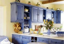 country kitchen paint colorsKitchen  Blue Painted Kitchen Cabinets Blue Painted Kitchen