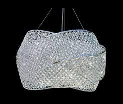 miami beach 3 ring crystal chandelier