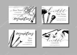 makeup artist business cards stock vector