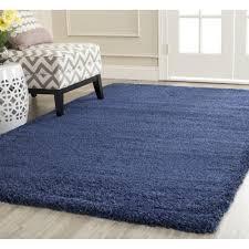 simple solid navy blue area rug safavieh milan 10 x 14 power loom
