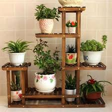 garden shelves. Garden Shelving Wood 5 Tier Pot Plant Stand Flower Shelf Rack Wrought Holder Indoor Us . Shelves R