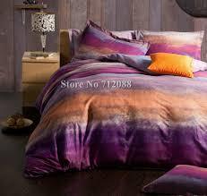 wholesalepurple orange modern pattern bed sheets linens pcs