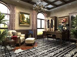 High end fice Interior with Floral Carpet 3D model MAX
