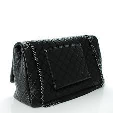 chanel xxl travel bag. chanel calfskin xxl travel flap bag black. pinch/zoom chanel xxl l