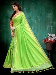Green Saree With Pink Blouse Design Parrot Green Silk Saree Blouse Designs Rldm