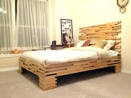Fancy Wooden Bed Frames Twin Bed Without Headboard Bed Without ...