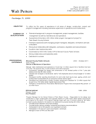 Resume Objective Examples Project Management Resume For Study