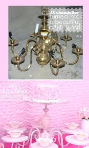 chandeliers chandelier cupcake holder cake stand gorgeous centerpiece made from an old gold