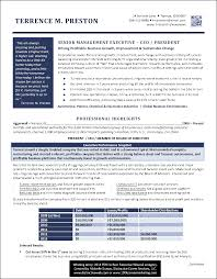 This executive resume was honored as one of the top three Best Executive  Resumes.