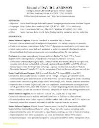 Software Engineer Resume Sample Senior Software Engineer Resume