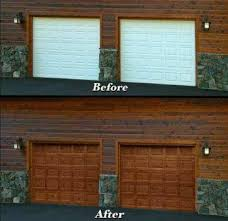 diy faux wood garage doors. Painting Garage Doors | Affordable Faux Wood Grain And Entry Way Door Diy O