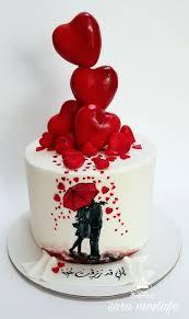 Anniversary Cake عجينة السكر Cake Cupcake Cakes Valentine Cake