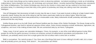 essay pythagoras essay