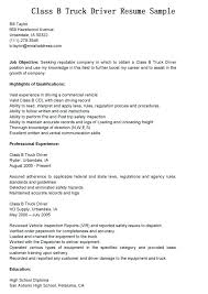 Cv For Driver Job 12 13 Resume Examples For Truck Drivers Elainegalindo Com