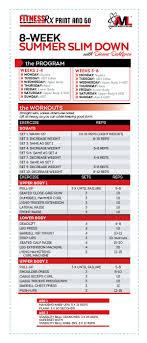8 Week Summer Slim Down A Total Body Transformation Gym