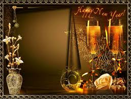 happy new year beautiful frame for photo psd png