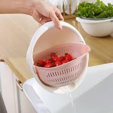 <b>2018 High Quality Fashion</b> Double Drain Basket Bowl Washing ...