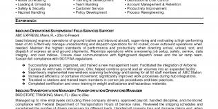 transportation resume objective transportation resume template sample transportation management resume