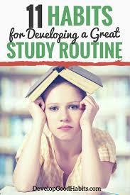 good study habits for students how to build a daily routine
