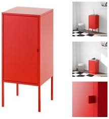 Ikea office storage Desk Image Is Loading Ikealixhultcabinetmetalred35x60cmhomeoffice Ebay Ikea Lixhult Cabinet Metal Red 35x60cm Home Office Storage Living Ebay