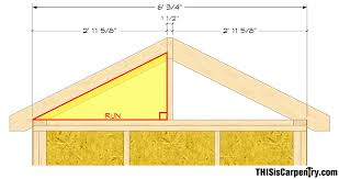 Roof Pitch Angle Chart Common Rafter Framing Thisiscarpentry