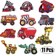 Designer Iron On Patches Kids Car Embroidered Patches Iron On Patches Vehicle Embroidery Patches Assorted Diy Sew On Applique Truck Patches Cute Patches For Boys
