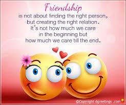 friendship is not about finding