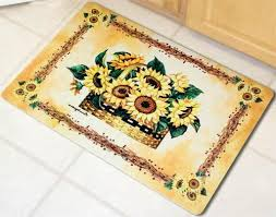 kitchen sunflower kitchen rugs or carpets with sunflowers amazing washable rug sets