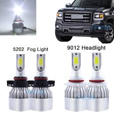 2014 Gmc Sierra Led Fog Lights Details About Combo 9012 Led Headlights 5202 Fog Light Bulbs For 2014 2015 Gmc Sierra 1500