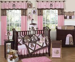 pink and chocolate teddy bear baby girls bedding 9pc crib set only 189 99