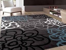 osti fl flowers dark grey contemporary modern area rug 5 3 x 7 from 3 x
