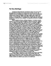argumentative essays on same sex marriage argumentative essay hassle category gay lesbian marriage