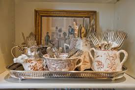 Decorating With Silver Trays Decorative Silverware Displays 35