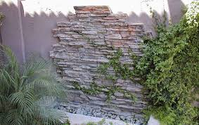 weeping wall water feature construction