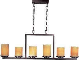image of wax candle chandelier lighting