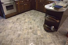 Natural Stone Kitchen Floor Custom Bathroom Remodeling Natural Stone Herringbone Tile Floor