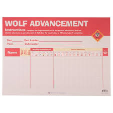 Wolf Advancement Chart Wolf Cub Scout Advancement Chart
